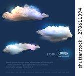 cloud vector set | Shutterstock .eps vector #278611394