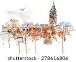 Vector Watercolor Urban...