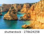 a view of a praia da rocha in... | Shutterstock . vector #278624258
