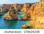 a view of a praia da rocha in... | Shutterstock . vector #278624258