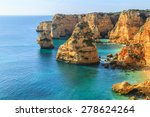 a view of a praia da rocha in... | Shutterstock . vector #278624264