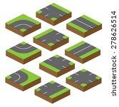 set of vector bricks with parts ...   Shutterstock .eps vector #278626514
