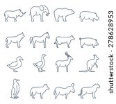 animal  icons.elements for... | Shutterstock . vector #278628953