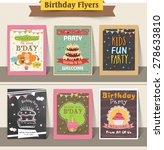 stylish birthday party flyers... | Shutterstock .eps vector #278633810