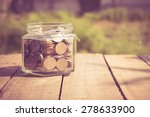 money in the glass with filter... | Shutterstock . vector #278633900