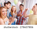celebration. young people... | Shutterstock . vector #278637806