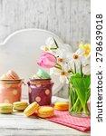 spring bouquet in glass mug ... | Shutterstock . vector #278639018