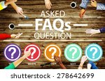 frequently asked questions faq...   Shutterstock . vector #278642699