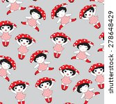 little red girl pattern... | Shutterstock .eps vector #278648429