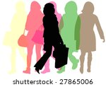 group of female shoppers | Shutterstock . vector #27865006