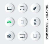 gadgets modern round icons ...