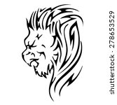 lion lion head abstract...   Shutterstock .eps vector #278653529