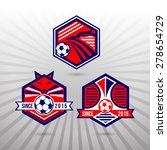 set of soccer football badge... | Shutterstock .eps vector #278654729