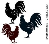 rooster | Shutterstock .eps vector #278662130