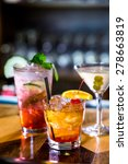 colorful cocktails on the bar... | Shutterstock . vector #278663819