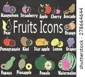 fruits icons paint by color... | Shutterstock .eps vector #278664644