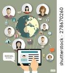 social media network concept...   Shutterstock .eps vector #278670260