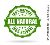 all natural vector icon | Shutterstock .eps vector #278673113