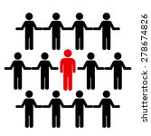 crowd and individual   Shutterstock .eps vector #278674826