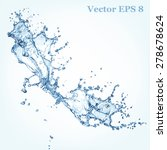 blue water splash  vector... | Shutterstock .eps vector #278678624