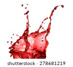 red juice splash closeup... | Shutterstock . vector #278681219