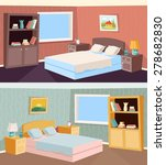 cartoon bedroom apartment... | Shutterstock .eps vector #278682830