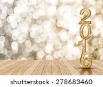 2016 year wood number in... | Shutterstock . vector #278683460