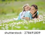 mother and daughter in the park | Shutterstock . vector #278691809