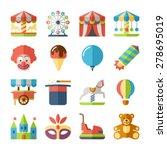 amusement park fun fairground... | Shutterstock .eps vector #278695019