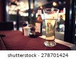 glass of beer in a restaurant | Shutterstock . vector #278701424