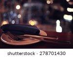 background blurred restaurant...