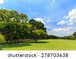 green trees in beautiful park | Shutterstock . vector #278703638