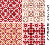 Set Of Four Seamless Pattern...