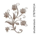 silver pattern in the form of...   Shutterstock . vector #278704214