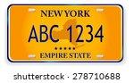 registration plates of new york | Shutterstock .eps vector #278710688