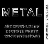 metallic letters. alphabet for... | Shutterstock .eps vector #278713556