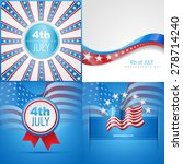 vector set of american flag... | Shutterstock .eps vector #278714240