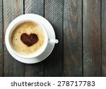 Cup Of Cappuccino With Heart Of ...