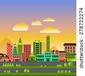 flat design concept city... | Shutterstock .eps vector #278722274