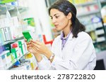 portrait of female pharmacist... | Shutterstock . vector #278722820