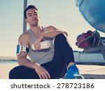 young and handsome athlete... | Shutterstock . vector #278723186
