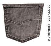dark gray brown  jeans pocket... | Shutterstock . vector #278723720