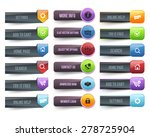 vector web buttons | Shutterstock .eps vector #278725904