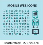 mobile web icons set  vector | Shutterstock .eps vector #278728478