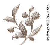 floral or botanical christmas... | Shutterstock . vector #278730554