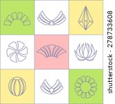 set of business icons contour... | Shutterstock .eps vector #278733608
