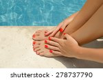care for beautiful woman legs | Shutterstock . vector #278737790
