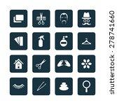 barbershop icons universal set... | Shutterstock .eps vector #278741660