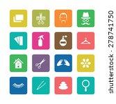 barbershop icons universal set... | Shutterstock .eps vector #278741750
