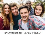 group of multi ethnic young... | Shutterstock . vector #278744660